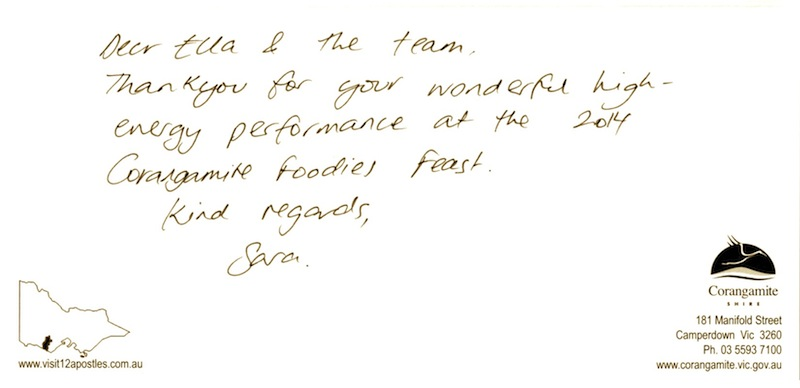 tap dance performance testimonial for melbourne tap dance